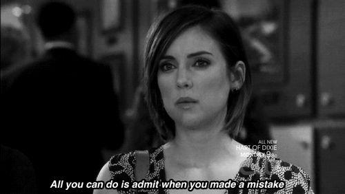 admitir quando você're wrong