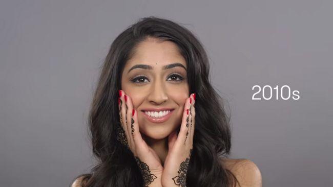 100 anos de beleza indiana em dois minutos!