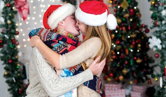 Beijo dos pares do Natal