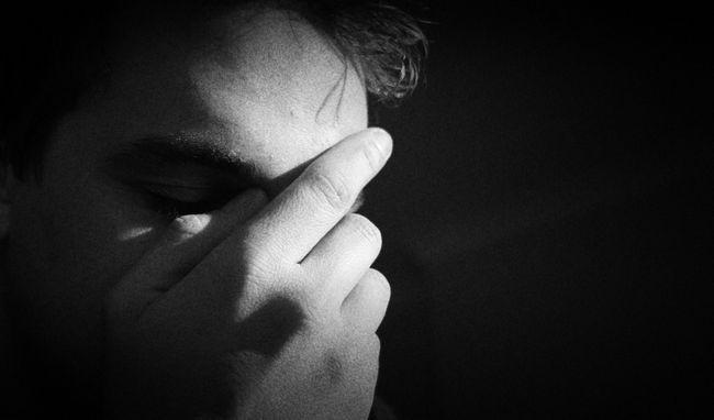 homem deprimido