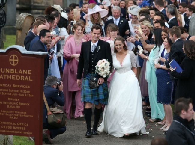 Andy Murray e casamento Kim Sears chamado