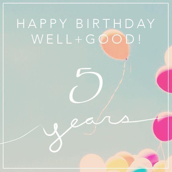 Comemore com a gente e + boa faz cinco anos!