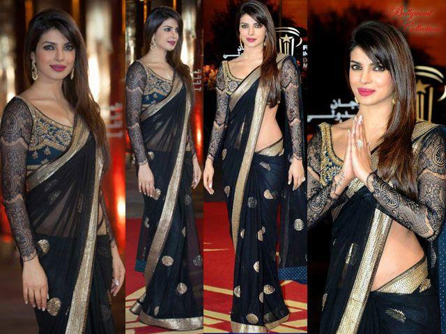 Priyanka Chopra criar sari magia negra