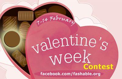 A semana concurso Fashable valentine