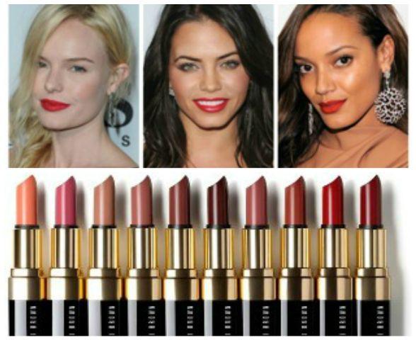 Como escolher sombra vermelha do lábio para a sua pele