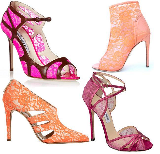 coleção Jimmy Choo de sapatos coloridos