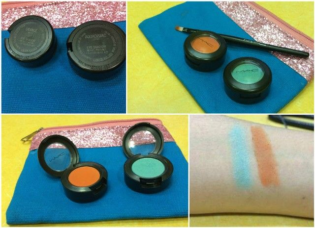 Mac tapete laranja sombra e rever Aquadisiac brilho e Swatch