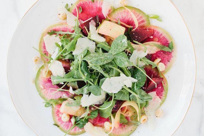 Receita: + triple cozinha alimentação salada de rabanete mesa