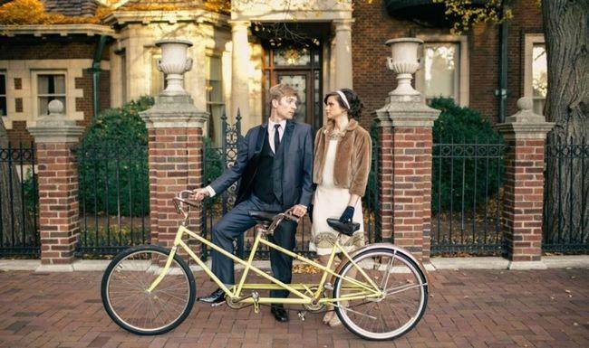 Este tema foto do casamento Wes Anderson tiro é realmente bonito!