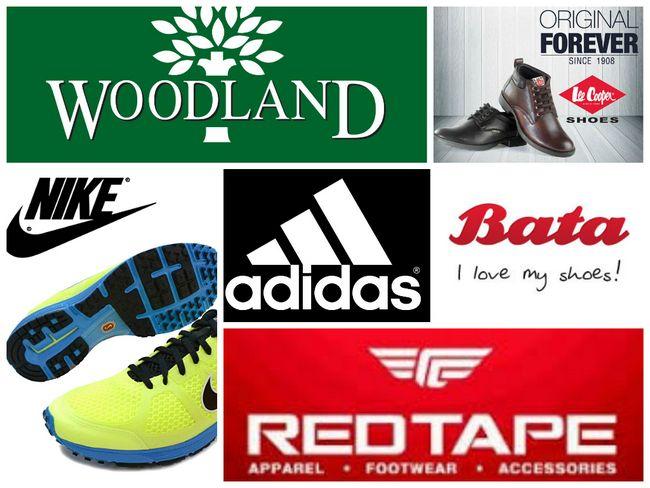 Mais alto marcas de calçados na Índia