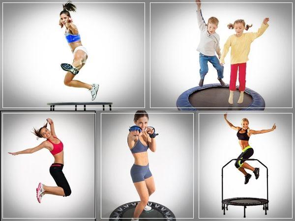 exercício trampolim