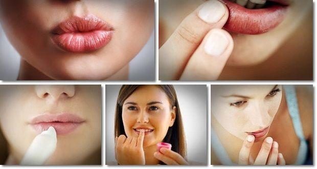 Tratar os lábios rachados, naturalmente,
