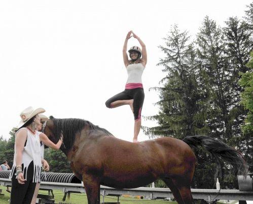 relatório de tendência: o cavalo para yoga