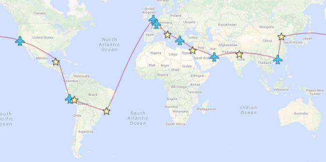 par romântico Whirlwind visitou sete maravilhas do mundo em 13 dias!