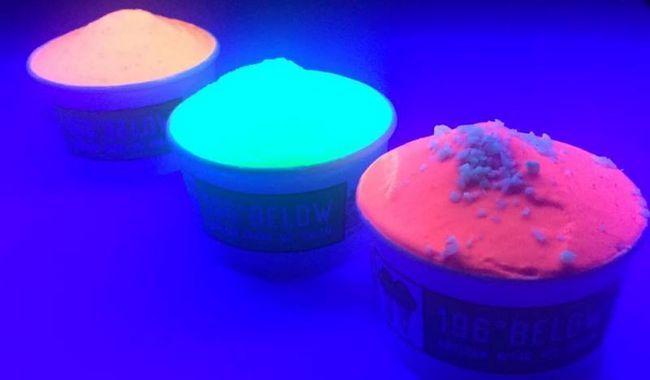 Quer experimentar algum brilho no sorvete escuro?