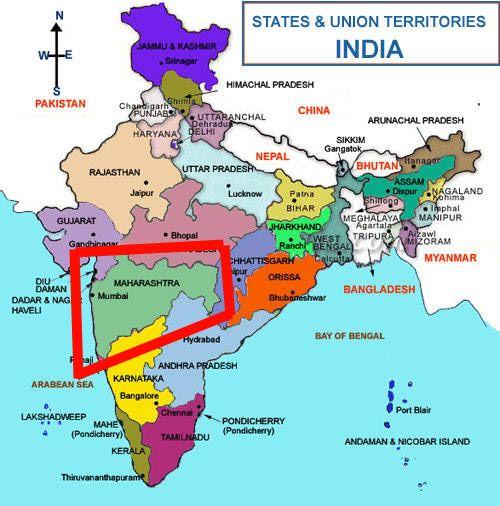 Pontos turísticos em Maharashtra