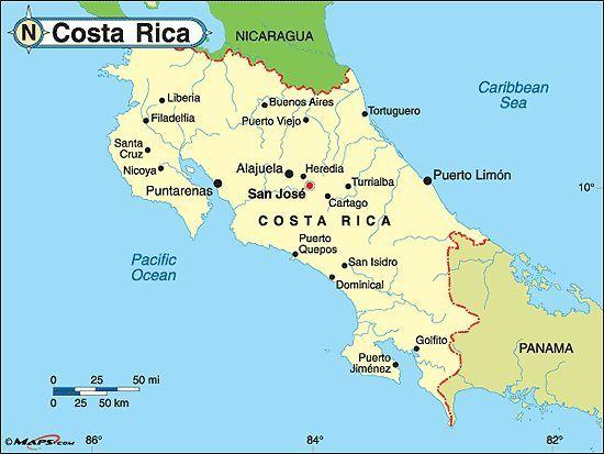 Tempo em Costa Rica em agosto
