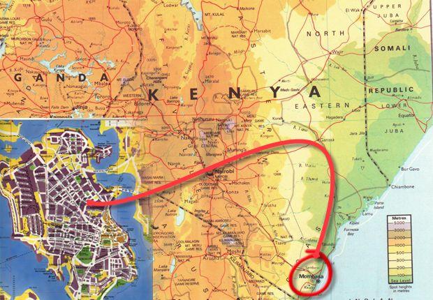 Tempo em Mombasa em julho